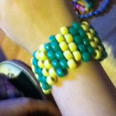 Green And Yellow Stripped Cuff