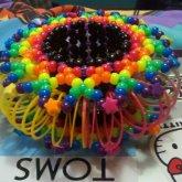 Rainbow Slinky Cuff