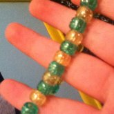 Sparkly Yellow And Green Single