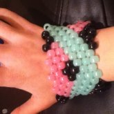 Glow In The Dark Cross Over Pattern Cuff