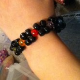 Double Layered Black And Rainbow Single