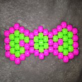 Pink/Green Bow
