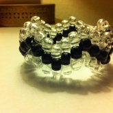 Clear And Black Zig - Zag Bracelet