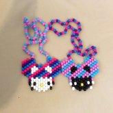 DeadMau5 Hello Kitty Necklace Set
