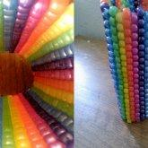 Big Vertical Rainbow Cuff