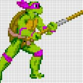 TMNT Donatello - Oversized Perler Pattern