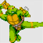 TMNT Michelangelo - Oversized Perler Pattern