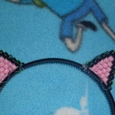 Mini Pony Bead Black Cat Ears