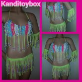 Neon Yellow Fringe Rave Outfit