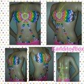 Glittery Rainbow Kandi Bikini Top