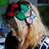 8-bit Bow Hairclips