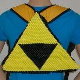 Zelda Triforce Backpack With Zipper
