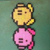 My Kirby Perler Beads