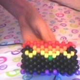 Mustache Cuff With A Rainbow Background