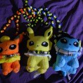 Eeveelution Plush Necklaces For Randomxkandiis