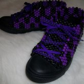 Black N Purple Shoes