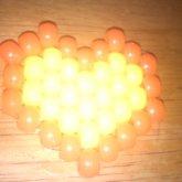 Yellow And Orange Heart Hairpin
