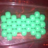 Neon Green Peyote Hairbow