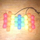 Neon Rainbow Peyote Hairbow