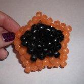 Orange And Black Star Ball