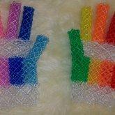 Clear Rainbow Gloves