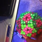 Pink And Green Star Ball Just Because