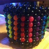 Black And Rainbow Cuff