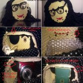 3D Skrillex Head Backpack/shoulder Bag