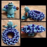 Cookie Monster With Fuzzy Beads <3