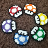 Rainbow Mario Mushrooms