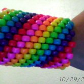 Longer Rainbow Striped Cuff