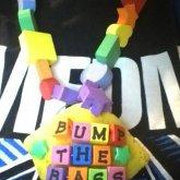 Squishy Sponge Kandi I Sewed Letters Onto