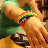Rainbow Swirl Star Cuff