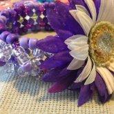 3D Purple Flower Cuff