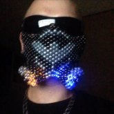 Big Tiesto Mask With LED Gas Chambers