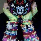 Mask and Bracelets