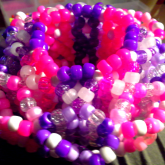 Pink And Purple 3D Cuff