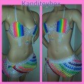 Rainbow Popsicle Kandi Bra