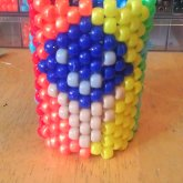 Front View Of A Rainbow Kaito/ice Cream Love Cuff I Made For Misty :3