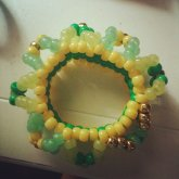 Green/gold Cuff From Caitlin