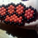 Red And Black Brass Knuckles Peyote