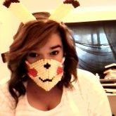 Kandi Pikachu Ears And Mask