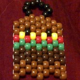 Rasta Pac Man/pot Man Kandi Handcuffs/collar Charm