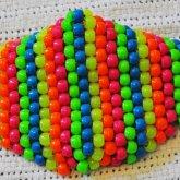 Neon Rainbow Kandi Mask 2