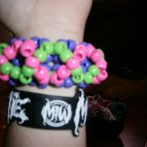 Pink,Purple,And Green 3D Cuff