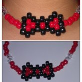 Black And Red Kandi Bow Choker