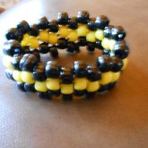 Small Black And Yellow Cuff