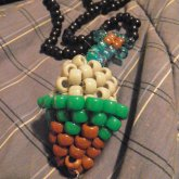 3d Minecraft Themed Ice Cream Cone Necklace