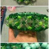 Green Slinky Cuff