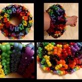 Rainbow And Black Cuff <3